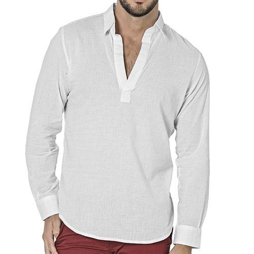 moda camisa gpn pk79 blanco  caballero pv