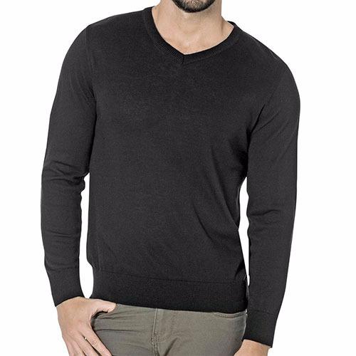 moda camisa sel basico negro caballero pv