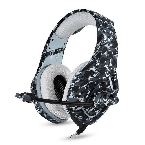 moda camuflaje auriculares súper bajo gaming auriculares po