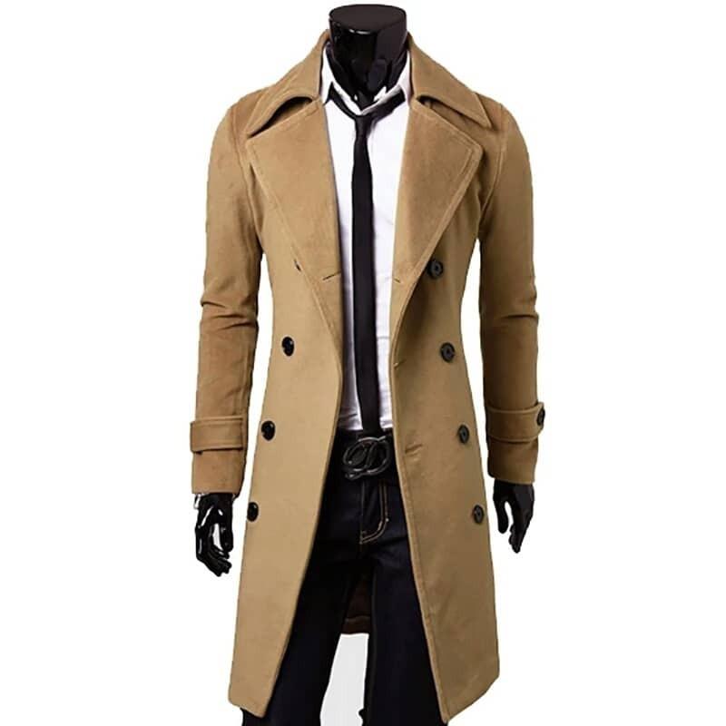 bc174f708 Moda Europea / Abrigo Largo Hombre Gabardina