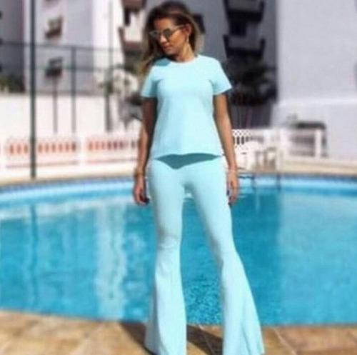 moda feminina conjunto max flare sued moda blogueira
