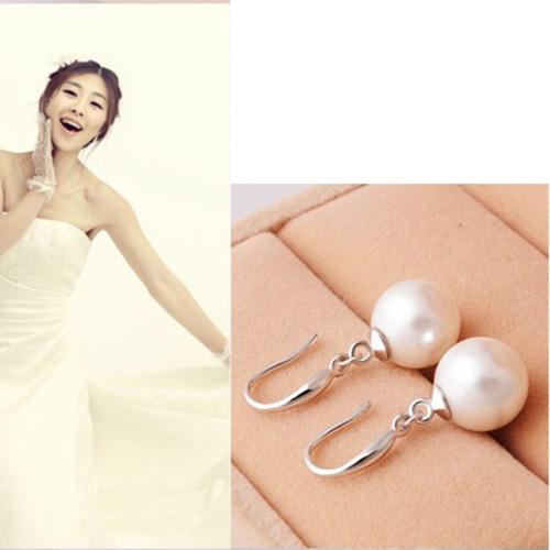 moda feminino jóias diamante pérola gota pingente prata brin