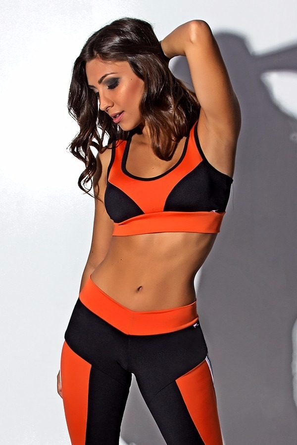 d857d2091 Conjunto Moda Fitness Sexy Calça Legging + Top - R  59