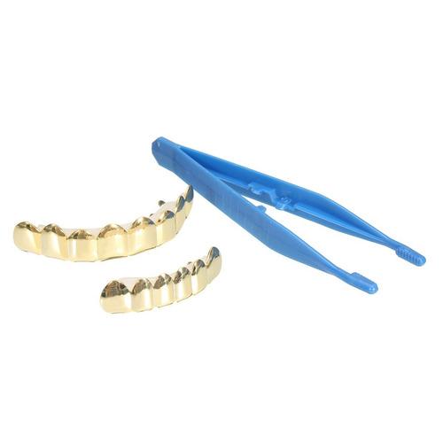 moda grillz set oro acabado ocho 8 superior dientes y 6 fond
