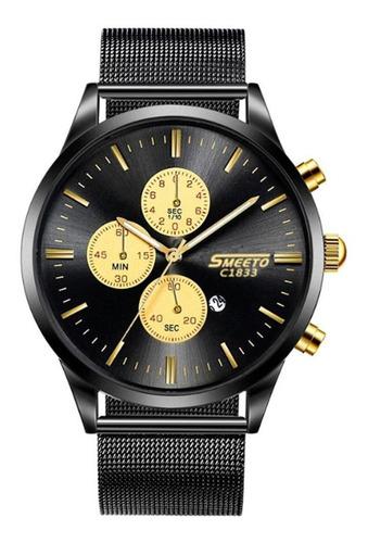 moda homens relógio de quartzo ultra-fino relógio de pulso
