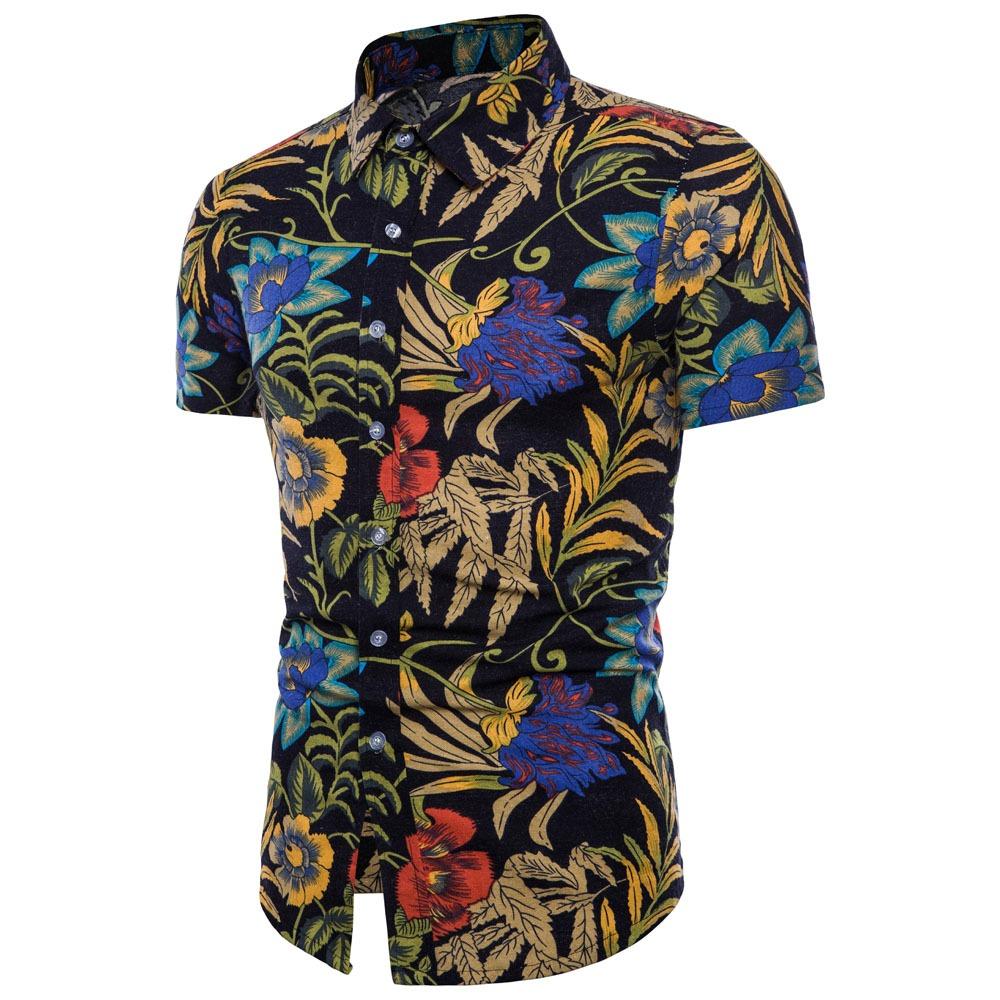 8b83c8f73 Moda Informal Manga Corta Camisas Hawaianas Para Hombres
