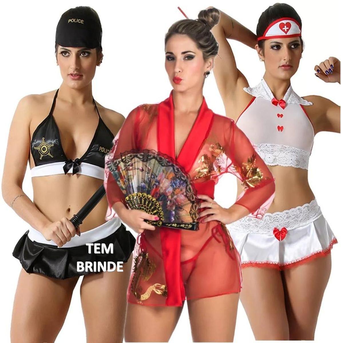 bf92b273f moda intima kit 3 fantasias lingerie sex atacado tem brinde! Carregando zoom .