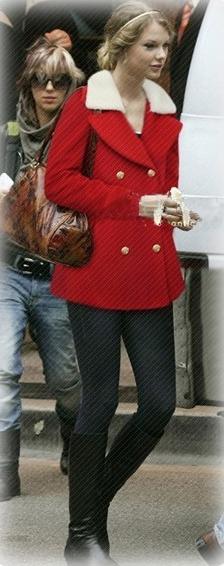 Moda Japonesa Abrigo Corto Rojo Cuello Blanco Grande Amyglo ... 6b43d0fcf2a6