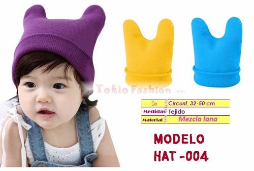 3eb9e2f540d30 Moda Japonesa Gorros Tejidos Frio Mujer Hombre Niños Unisex ...