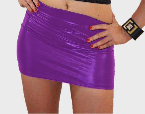moda  mini falda  sexy ¡  mod.  metálica, unitalla mf