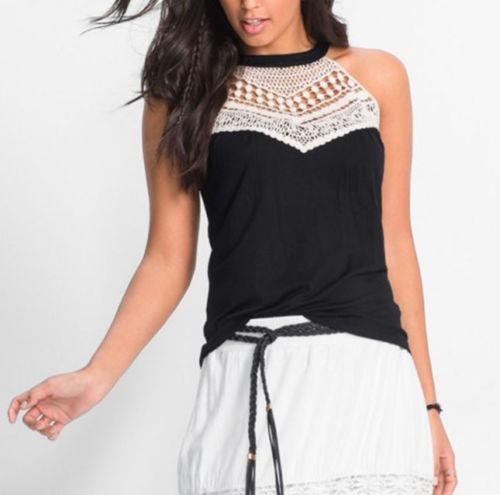 Moda Mujer Verano Chaleco Top Camiseta Sin... (black 705dedd865eb