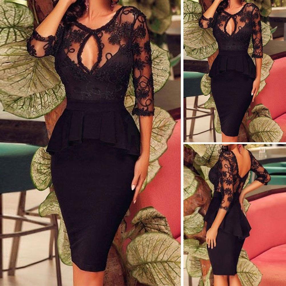 356d6e6703 Moda Mujer Vestido Fiesta Elegante Casual Formal Gala -   104.600 en ...