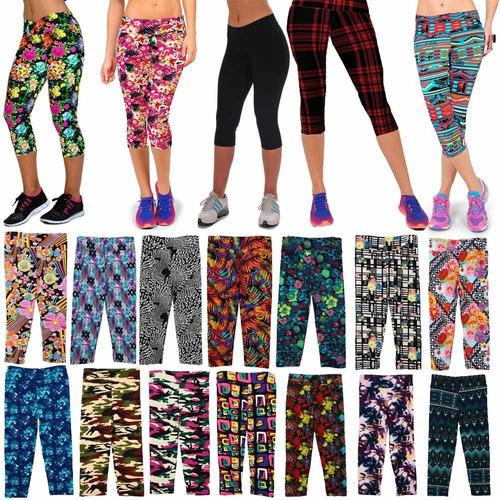 moda mujeres moda dama cosechado pantalones impresión vendi