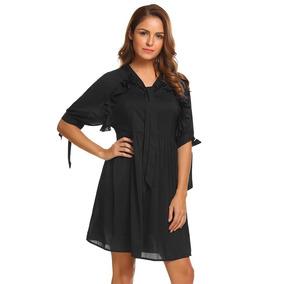 9105f5d2abb4 Vestido Metade Branco E Metade Preto - Vestidos Femeninos Longo com o  Melhores Preços no Mercado Livre Brasil
