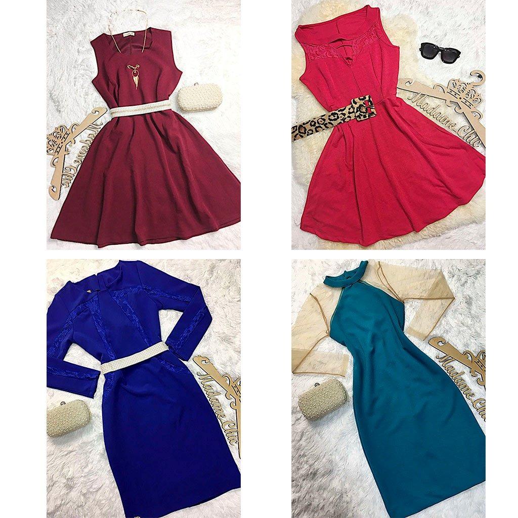 246714111 Moda No Atacado Vestidos Delicados 4 Peças - R$ 359,99 em Mercado Livre