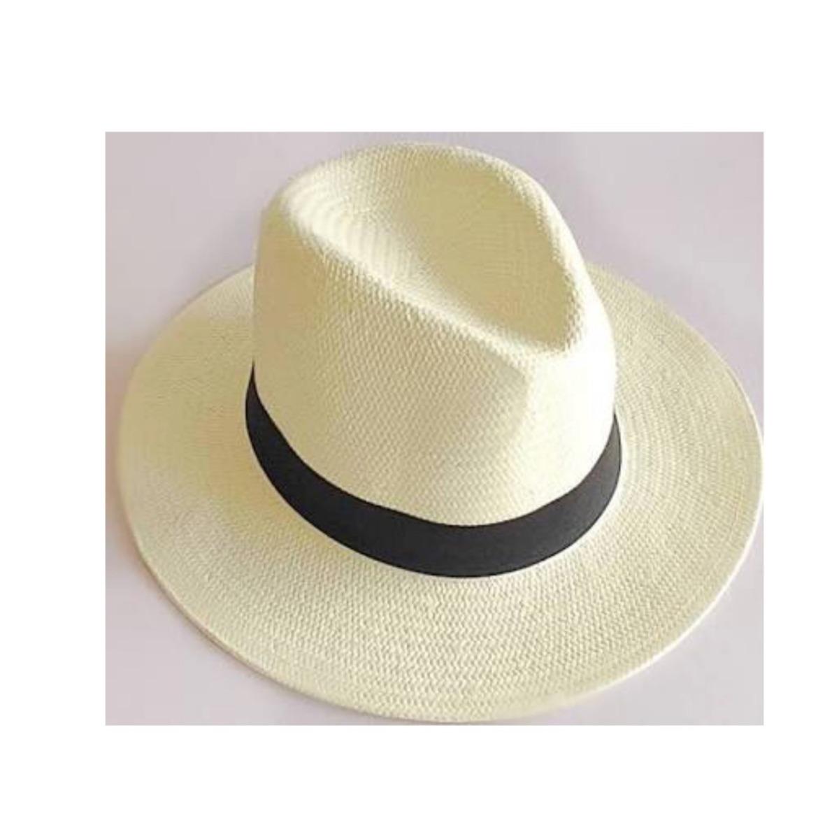 f162cc83d467f Carregando zoom... chapéu aba longa moda panamá clássico casual praia  unissex · chapéu moda panamá