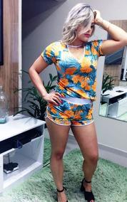 c36c2e9a9 Conjuntos Femininos Shorts - Vestidos Marrom-claro com o Melhores Preços no  Mercado Livre Brasil