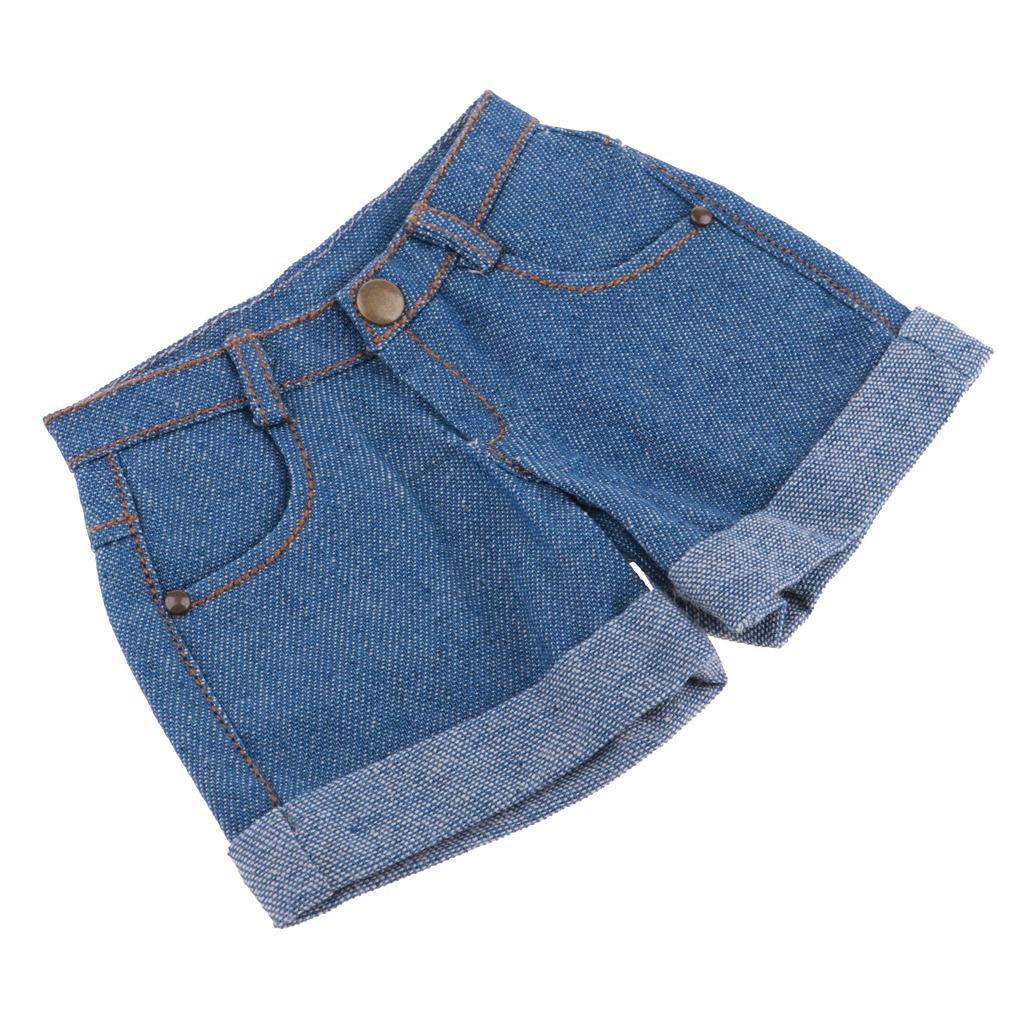 Moda Pantalones Cortos Con Puños Pantalones Vaqueros Para -   390.95 ... 4d9de69a7a9d