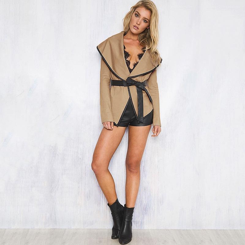 Mujer Moda Para Invierno Fz18a Cara Chaqueta Doble De Lana HqX1z