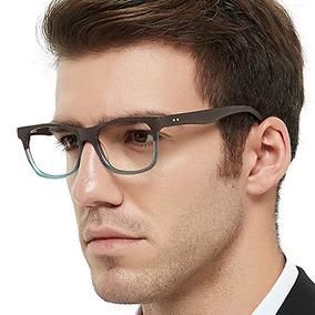 f258c3b7f2 Moda Pareja Gafas Marco Cuadrado Imitación Madera Grano.