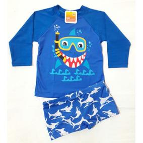 c3f145154 Proteção Solar Uv 50 Camisa + Sunga Infantil Ref.15 Bebê