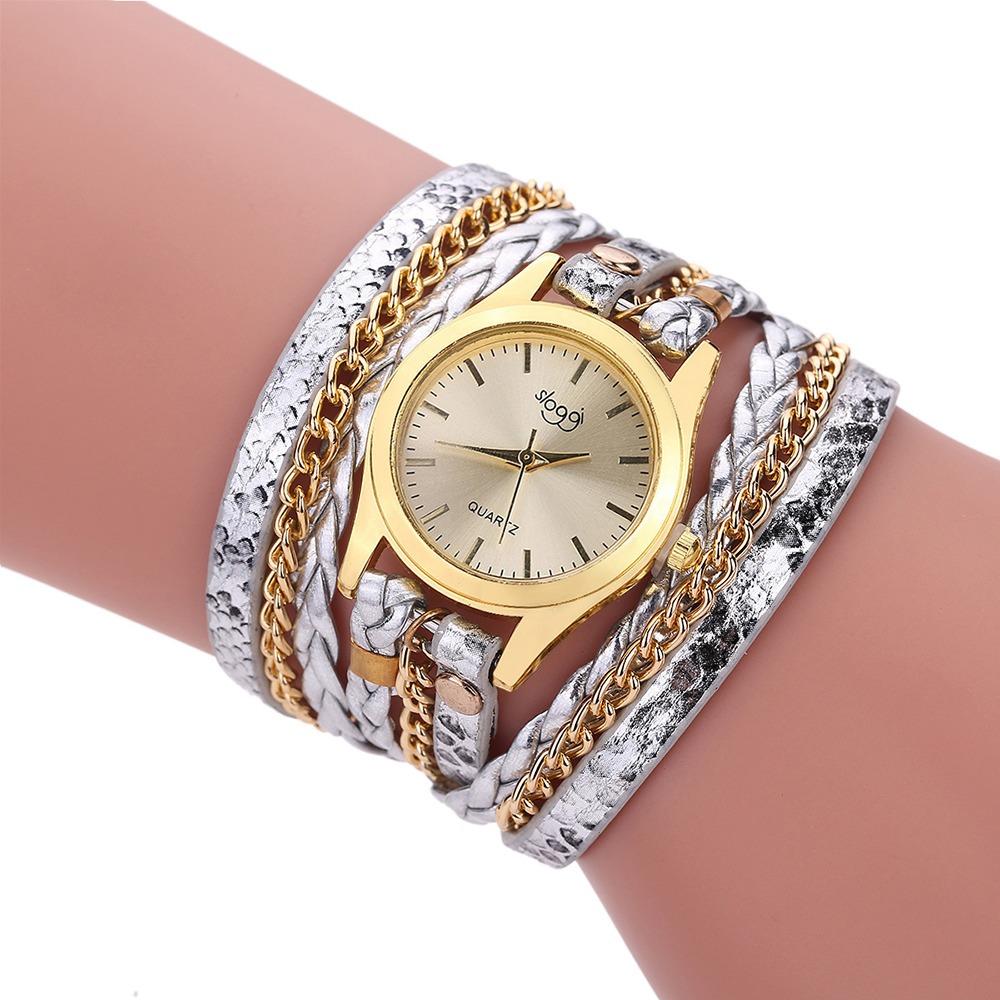 Moda Reloj Pulsera De Cuarzo Para Mujer-plata -   329.57 en Mercado ... 896bedef555e