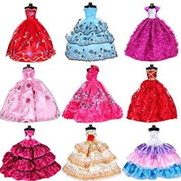 Moda Ropa De Muñecas Barbie Girl Vestidos Para Muñecas 10