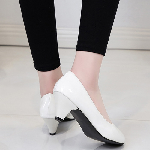 moda señora zapatos de tacón alto zapatos de punta redonda