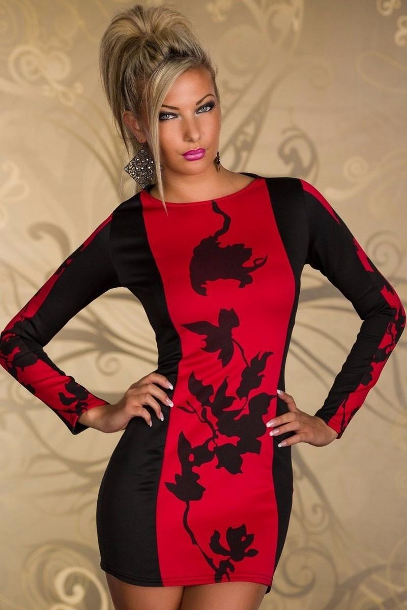 Vestidos de fiesta negro con rojo