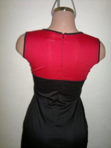 moda sexy mini vestido negro con transparencias talla l