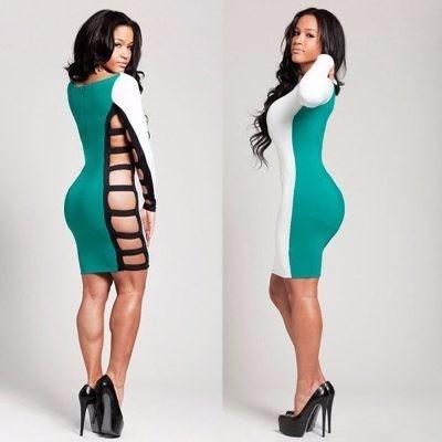 Imagenes de vestidos pegados manga larga