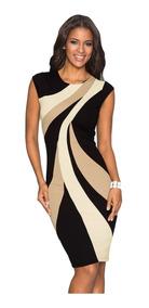 427016df430d Moda Sexy Vestido Negro Estampado Color Beige 610026