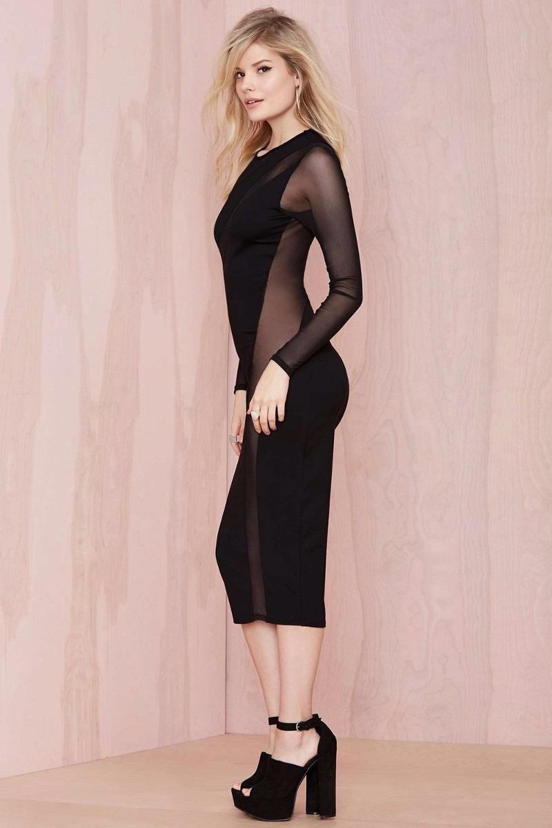 Bonito Vestido Negro Para La Recepción Nupcial Colección de Imágenes ...