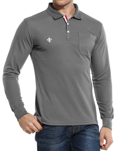 moda sólido suéter delgado polo camisas de hombre casual m