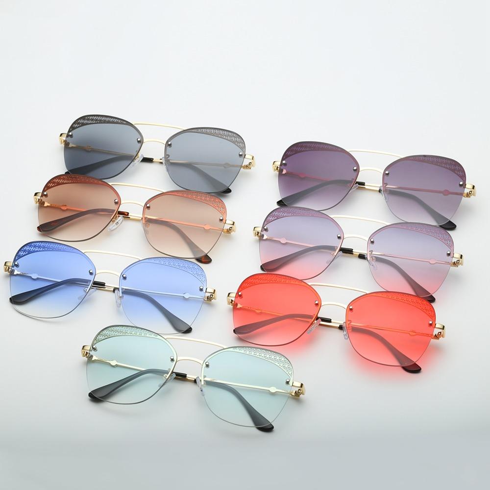 aa72ee7013 Moda Unisex Gafas De Sol Gafas Lentes Sin Marco Uv - $ 161.26 en ...