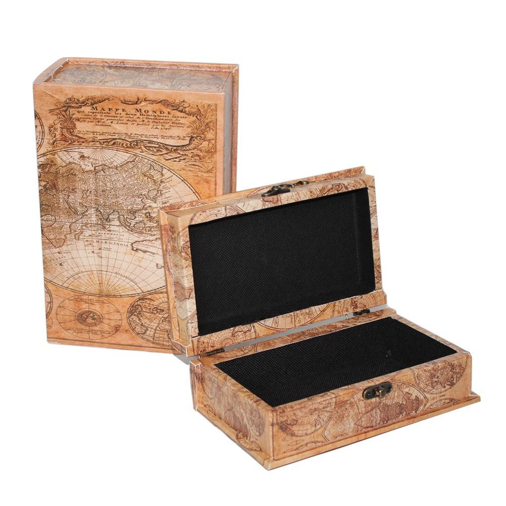 Mode home world map vintage decorative box wooden treasure mode home world map vintage decorative box wooden treasure cargando zoom gumiabroncs Image collections