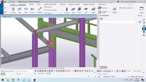 modelado en tekla structures 2019i - planos, 3d, cómputo,etc