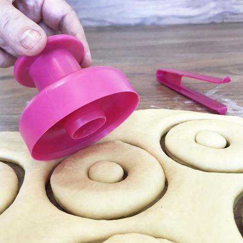 modelador cortador faz donuts pinça para mergulhar cobertura