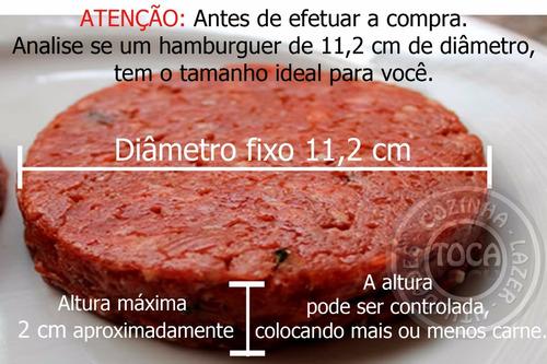 modelador de hamburguer manual hamburgueira hp112 picelli