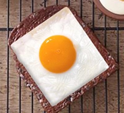modelador de ovo quadrado em inox - lanchonete/restaurante