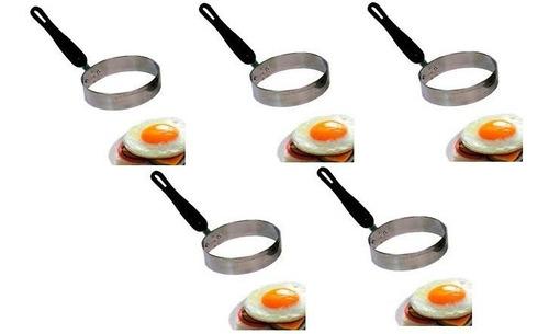 modelador de ovo redondo inox kit c/ 05 unidades