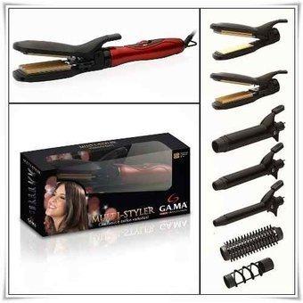 modelador gama multistyler alisador de pelo rizador brushing buclera rulos ondas accesorios cabello planchita plancha