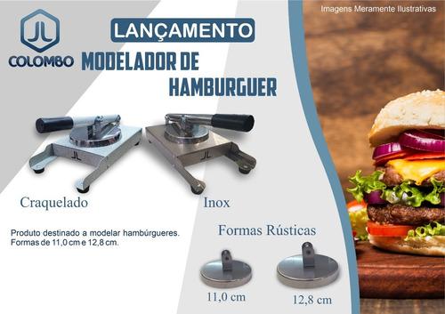 modelador prensador hambúrguer inox profissional 2 discos