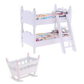 Accesorios Muebles Litera Mini Modelismo Muñeca De Cuna ID9HeYbEW2