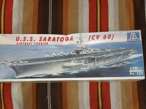 modelismo naval: kit p/ armar portaaviones  u.s.s. saratoga