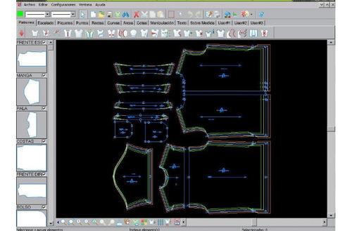 modelista moldes moldería corte confección producto final