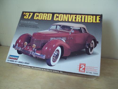 modelo a escala para armar cord convertible 1937