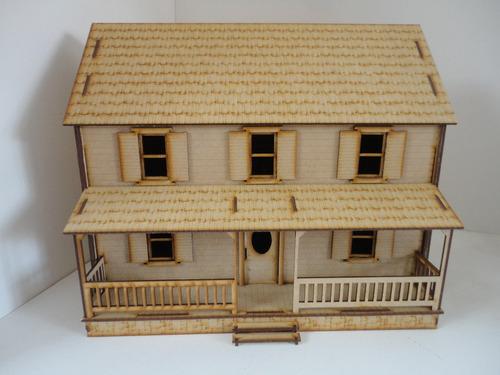 modelo casa bonita villa grande en mdf rompecabezas 3d
