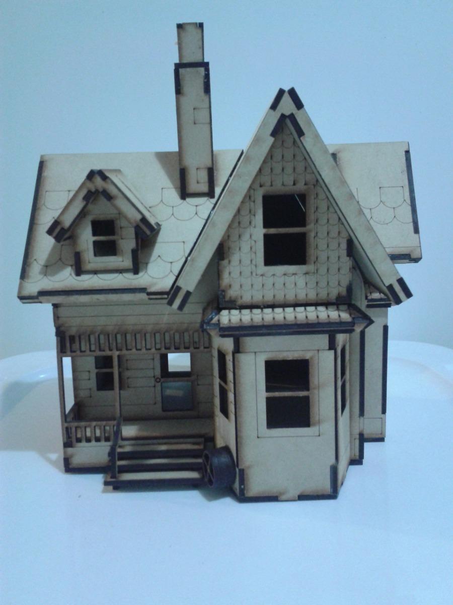 Modelo casa up hecho en madera mdf rompecabezas 3d for Crea casa 3d