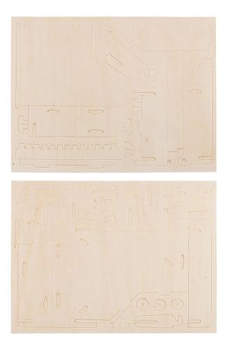 modelo de madera del piano de rompecabezas kit de